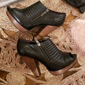 Vintage//Miss Sixty Leather Motorcycle boots